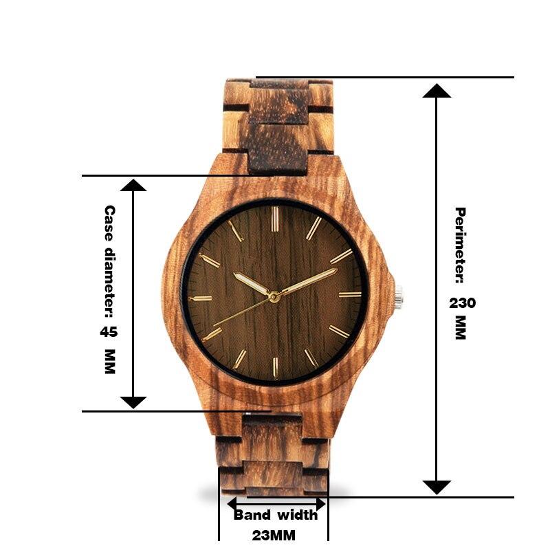 2018 Custom-made drewniany zegarek handmade dla mężczyzn specjalne - Męskie zegarki - Zdjęcie 5