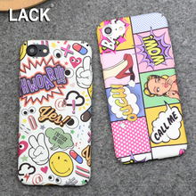 LACK Fashion Hard PC Case Sexy Girls Graffiti Letter Cartoon Cover For iphone 6 Case For iphone 6S 6 PLus Phone Cases Coque
