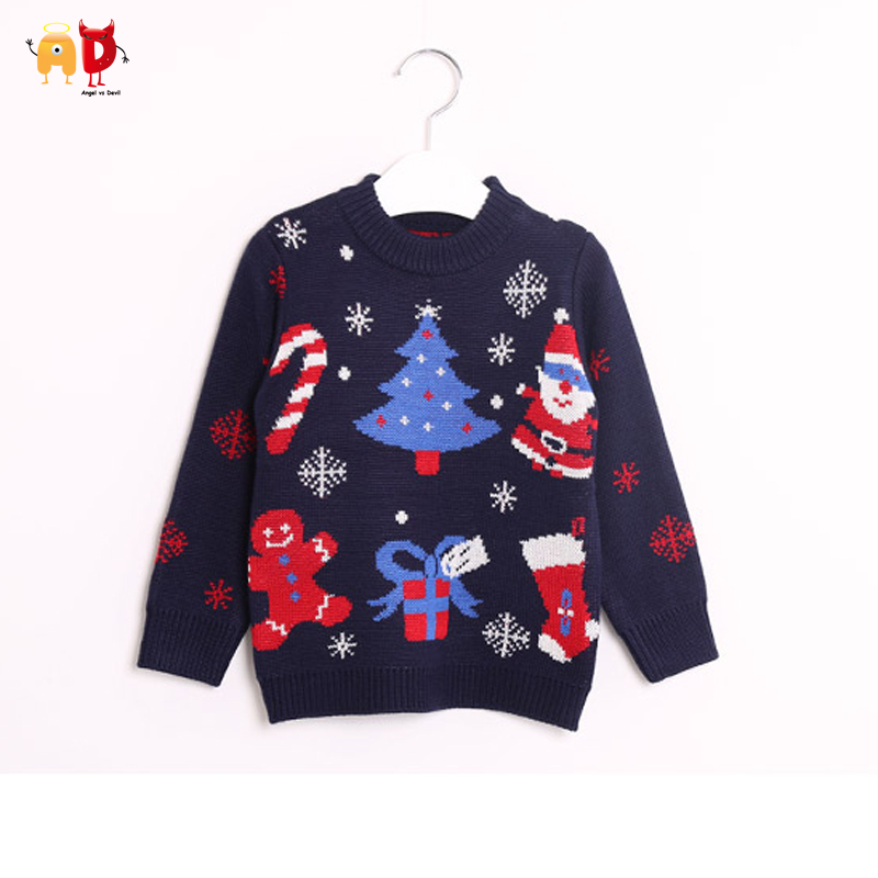 AD Woolen Blend Boys Girls Sweaters Thickening Two Layers Super Warm ...