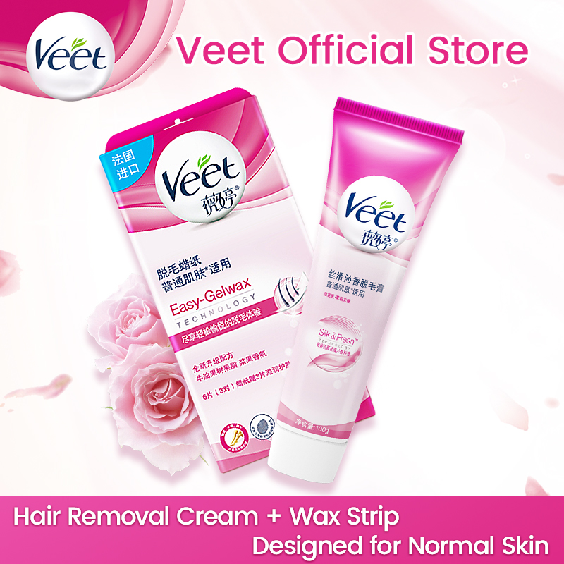 Veet Hair Removal Cream Wax Paper For Normal Skin Lotus Milk