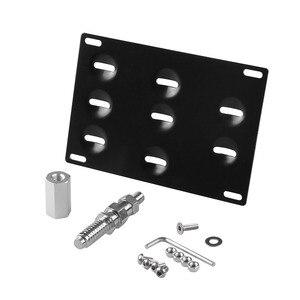 Image 2 - RASTP soporte de montaje de placa de matrícula para parachoques delantero de coche, gancho de remolque, color negro, RS BTD013