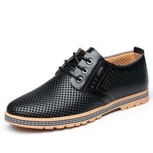 새로운 봄, 여름 유럽과 미국 스타일의 남성 신발 남성 비즈니스 드레스 중공 캐주얼 신발 구멍 신발