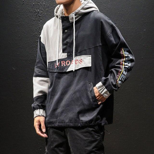 Hoodie Men Streetwear Kpop Korean Style Clothes Hooded Coat Hip Hop Oversized Army Jacket 5XL Casual High Street Hoodies Hoody