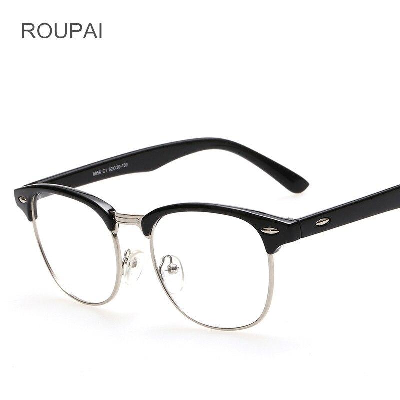 553db13c9689b3 ROUPAI Clear Mode Brilmontuur Unisex Semi randloze Bril Nep Brillen voor Vrouwen  Mannen Oculos De Grau 8056 in ROUPAI Clear Mode Brilmontuur Unisex ...