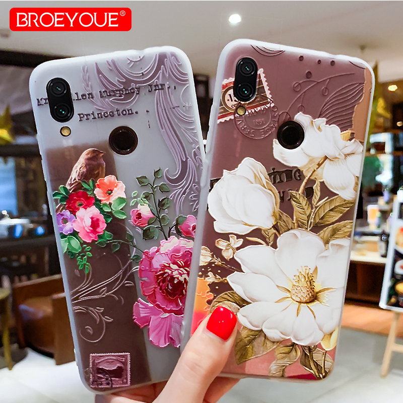 Flower Case for <font><b>Xiaomi</b></font> A2 Lite MI 9 <font><b>Redmi</b></font> Note 7 4 4X 5 6 Pro 5A Prime <font><b>4A</b></font> <font><b>Redmi</b></font> 5 Plus S2 6A Mi A2 8 SE 6X Note 3 Relief Cases image