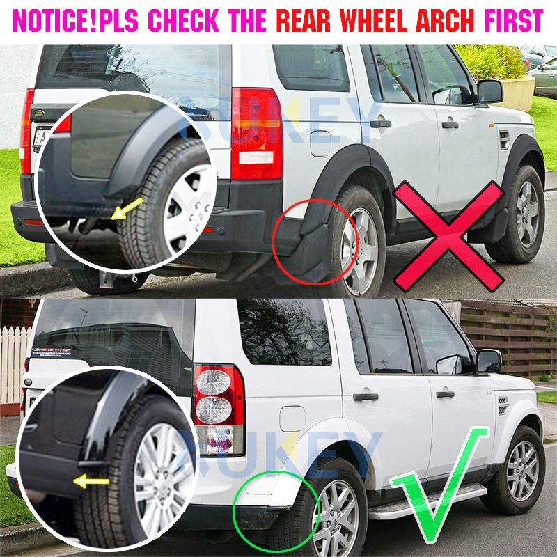 For Land Rover Discovery 4 LR4 LR 4 Mud Flaps Splash Guards Mudguards Front Rear