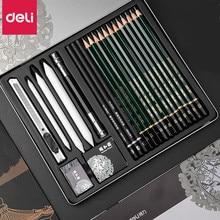 DELI, профессиональный набор для рисования, набор для рисования, древесные карандаши, художественная живопись, карандаш для рисования
