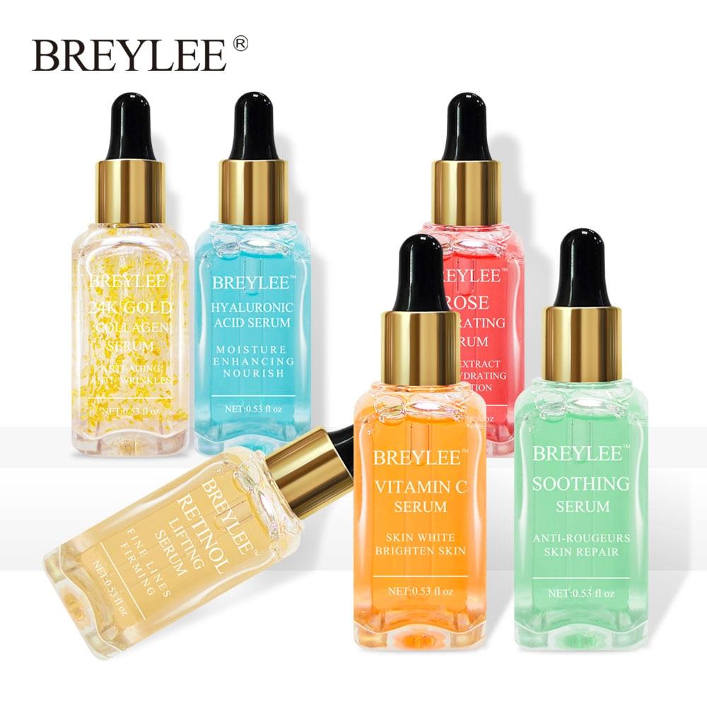 BREYLEE Serum Facial Series Hyaluronic Acid Collagen Vitamin C Whitening Lifting Anti-aging Wrinkle Firming Skin Face Care 6pcs