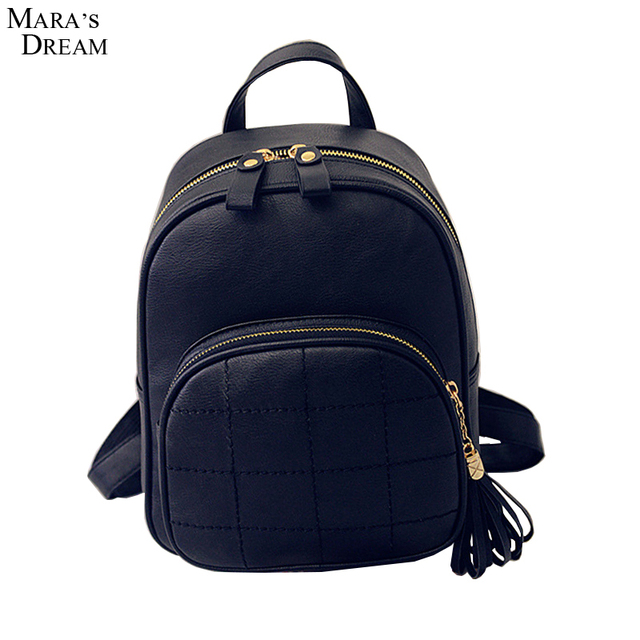 Mara's Dream 2017 Women Backbag High Quality PU Leather Vertical Square Surface Adjustable Strap Soft Handle Fashion Solid Bag