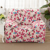 SunnyRain Polyester Leaves Sofa Cover Elastic L Shaped Sofa Cover Slipcover For Sectional Sofa Three Seat