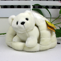 cute high quality small mini bear doll and big snow nest perfect polar bear toy gift toy about 31cm 0154