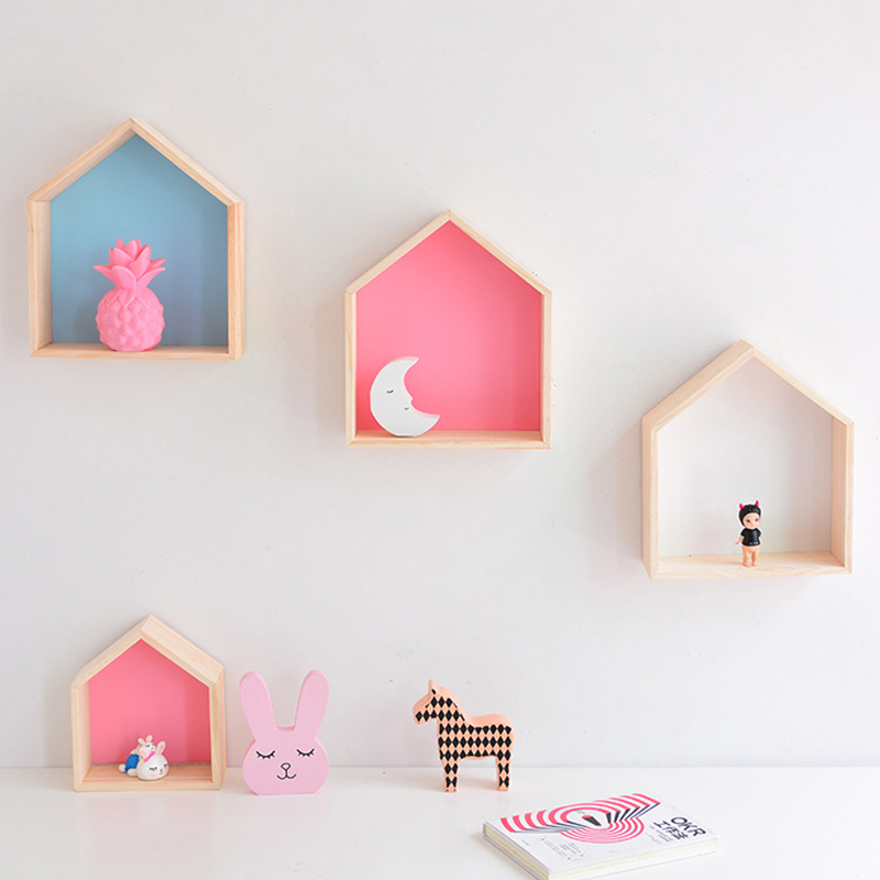 Wall Wooden Shelf For Kids Room Nursery Decoration Wall Shelf Wood For Children Boy Girl Room Nordic Room Decor Wall Decor Shelf