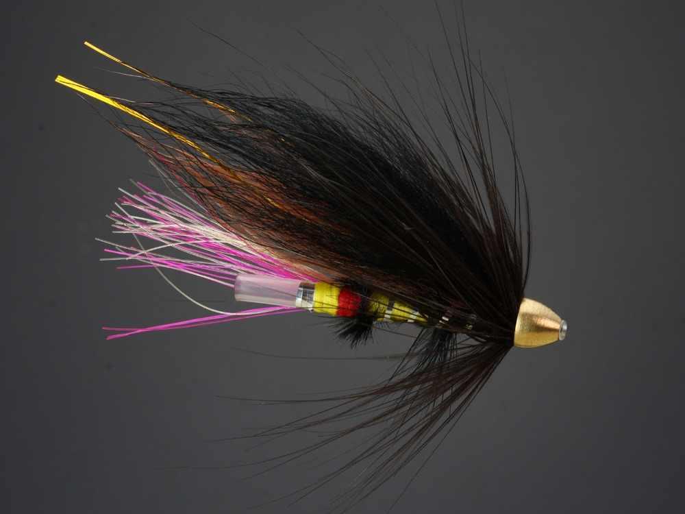 3 x Brass cone head Shrimp salmon fly Trout Flies