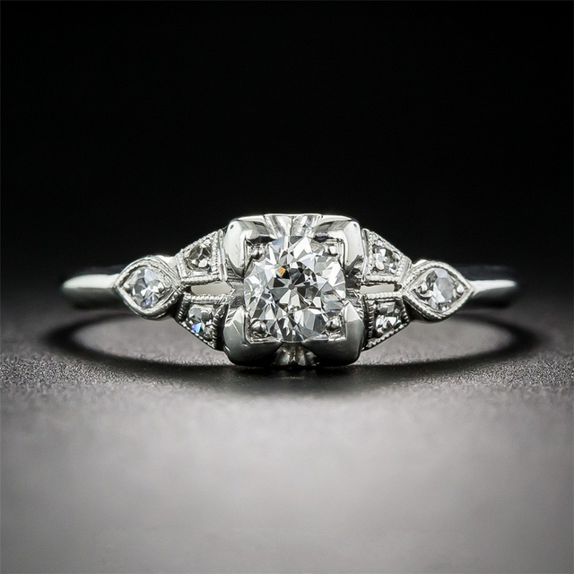 14K White Gold 0.5CT Lab Grown Diamond Engagement Ring