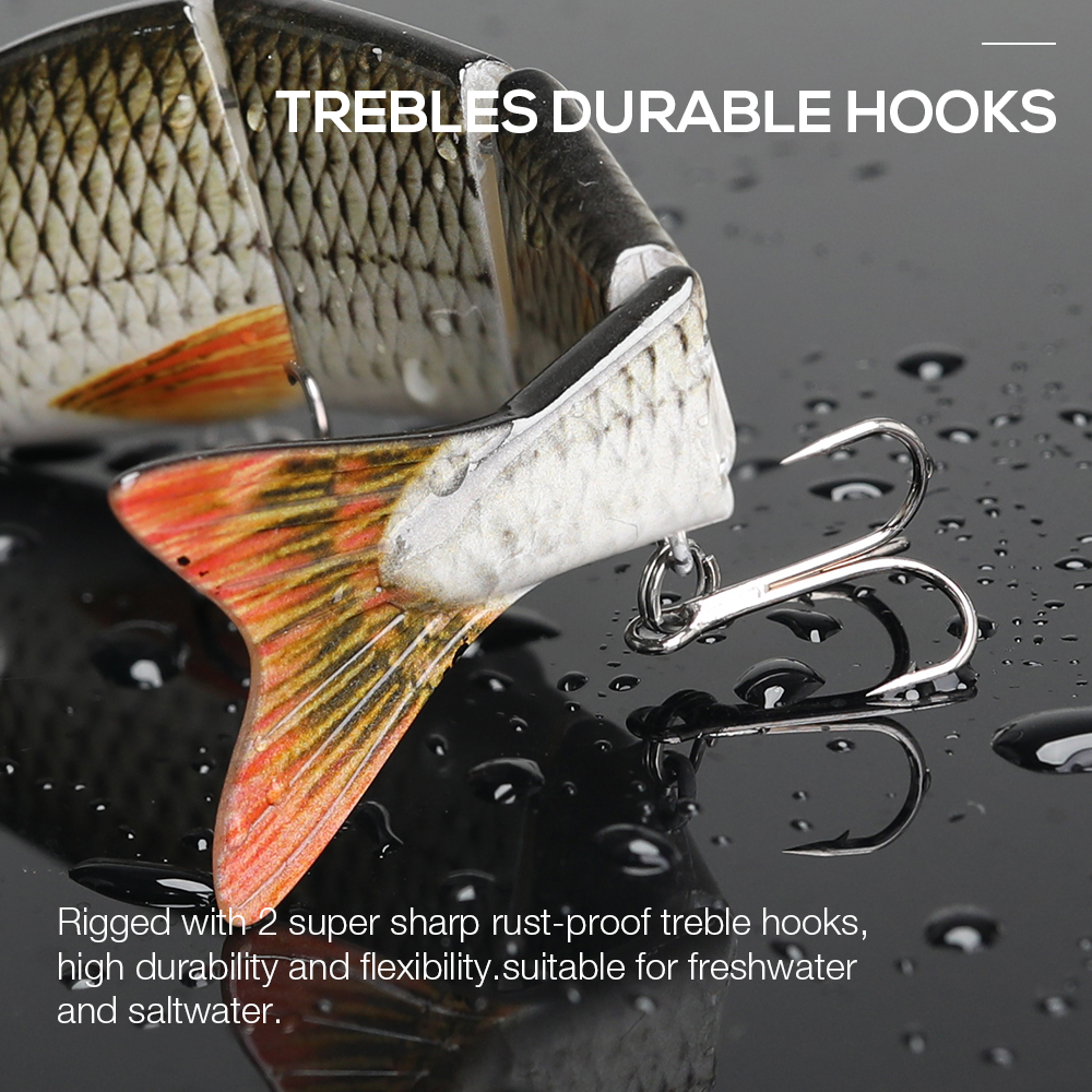 Image 5 - TREHOOK 12cm 16g Sinking Wobbler Fihisng Lure Hard Bait 4 Segments Jointed Artificial Bait for Sea Fishing-in Fishing Lures from Sports & Entertainment