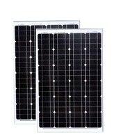 Panneau Photovoltaique 12v 60w 2PCs Panneaux Solaire Module 12v 120w Outdoor Charger 12v Lighting Motorhomes Caravane Car Camp
