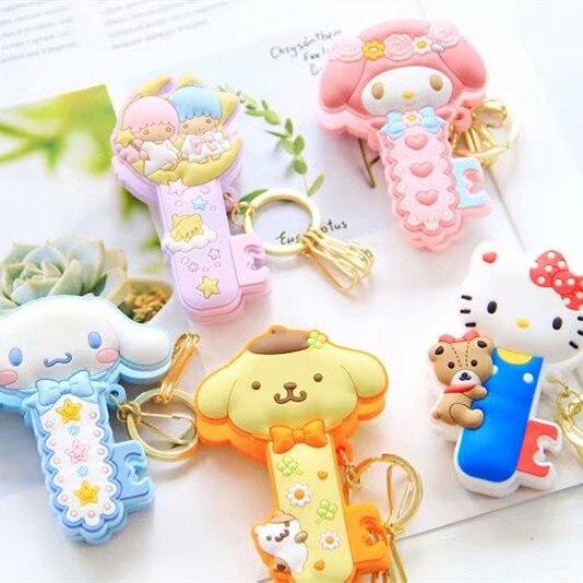 Sanrio Hello Kitty My Melody Cinnamoroll Little Twin Star Pom Pom Purin Cartoon Cute Keychain Bag Pendant Clip For Girls Gifts