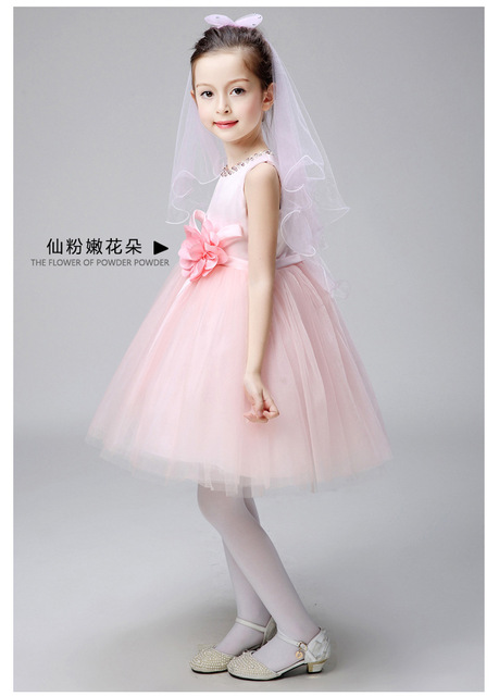 91b9dce4af55 Summer Baby Girl Birthday Dress Pink Tulle Beading Infant Baby Girl ...