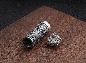 Image 5 - Yeni 100% 925 gümüş ejderha kolye tibet Gau kutusu ejderha budist namaz kutusu kolye