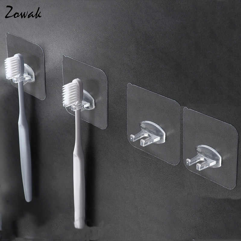 4pcs Toothbrush Holder Transparent Travel Stand Toilet Shaver Organizer Kids Tooth Brush Storage Rack Bathroom Accessories Panda
