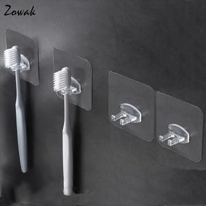 Image 1 - 4pcs Toothbrush Holder Transparent Travel Stand Toilet Shaver Organizer Kids Tooth Brush Storage Rack Bathroom Accessories Panda