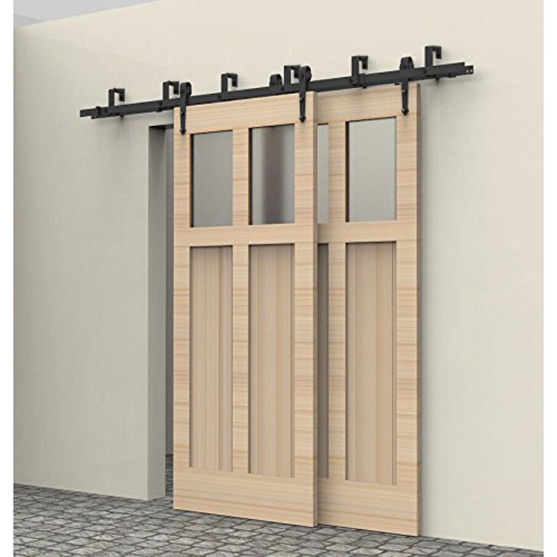 5-8FT rustic interior doors bypass sliding barn wood door hardware steel Arrow country style black barn door hardware set kit кресло dg home swan chair dg f ach325 1