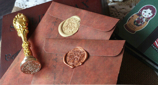 50pcs/lot New Vintage Kraft Paper Envelopes Antique Kraft Gift Envelope For Wedding Party