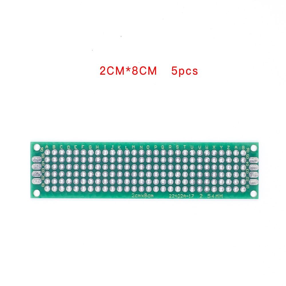 5pcs/lot 2x8  Double Side Copper Prototype PCB Universal Board Experimental Development Plate