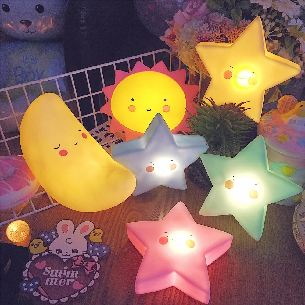 Hot Sale Cartoon Moon/Sun Night Light Childrens Gift Apple pineapple LED Christmas Party Decor kids Sleep Bedside lamp80516