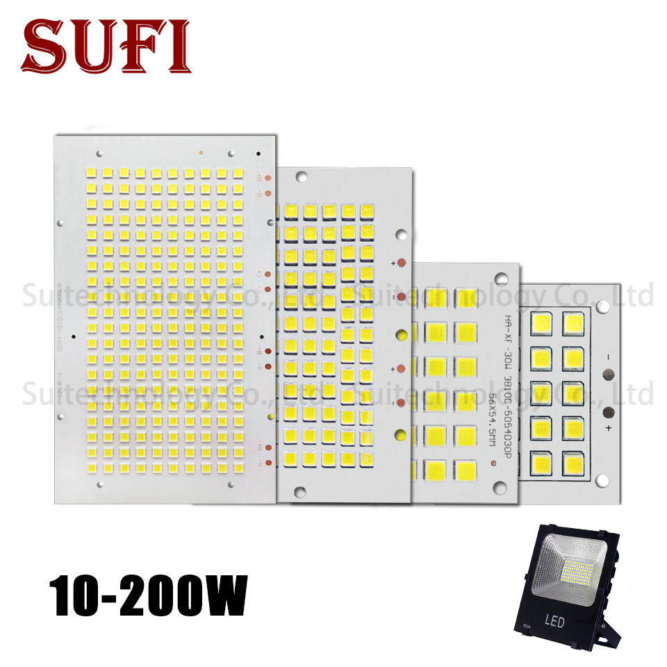 1Pcs Full Power LED Floodlight PCB 10W 20W 30W 50W 100W 150W SMD5054 LED PCB Board Lamp Aluminum Plate For Led Floodlight