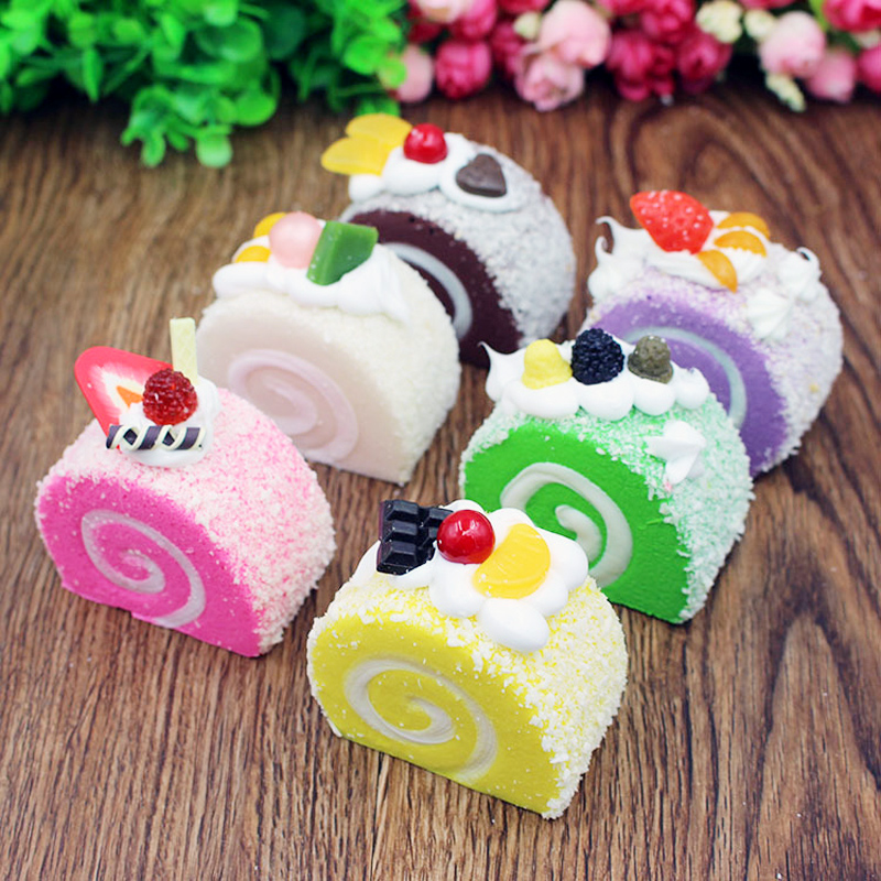 New Colorful Squeeze Toys Cake Squishy Slow Rising Decompression Toys Stress Reliever Decor Antistress Toys for children