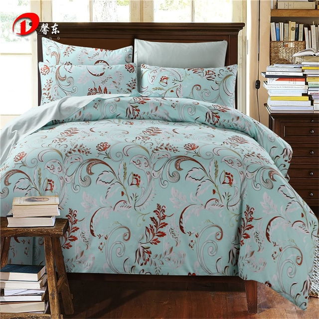 Luxury Satin Bed Linen Egyptian Cotton Bedding Set King Queen Size High  Quality Red Floral Bed