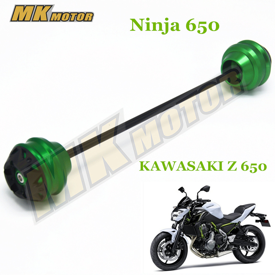 Free shipping For Kawasaki Z650 z650 2017 CNC Modified Motorcycle Front and rear wheels drop ball / shock absorber блузка where concubine z650 2015