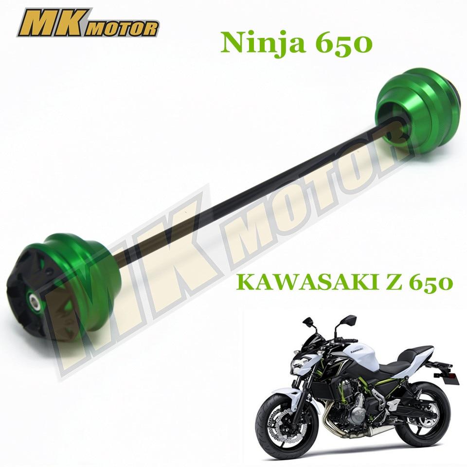 Free shipping For Kawasaki Z650 z650  2017 CNC Modified Motorcycle Front and rear wheels drop ball / shock absorber shock absorber ad2580 absorber buffer bumper free shipping