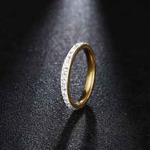 DOTIFI Titanium 316L Stainless Steel Rings For Women Silver /Gold Color Crystal Engagement Wedding Ring Jewelry