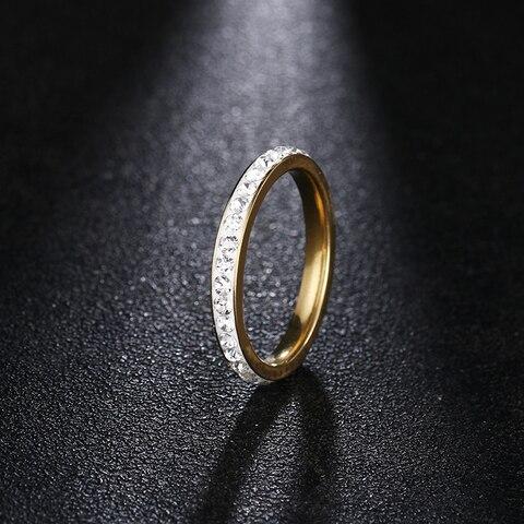 Женские кольца из нержавеющей стали dotifi серебряное/Золотое