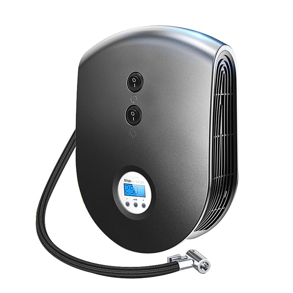 Pre set Digital Display Auto Car Tire Inflator 12V Electric Car Air Compressor Pump LED Light