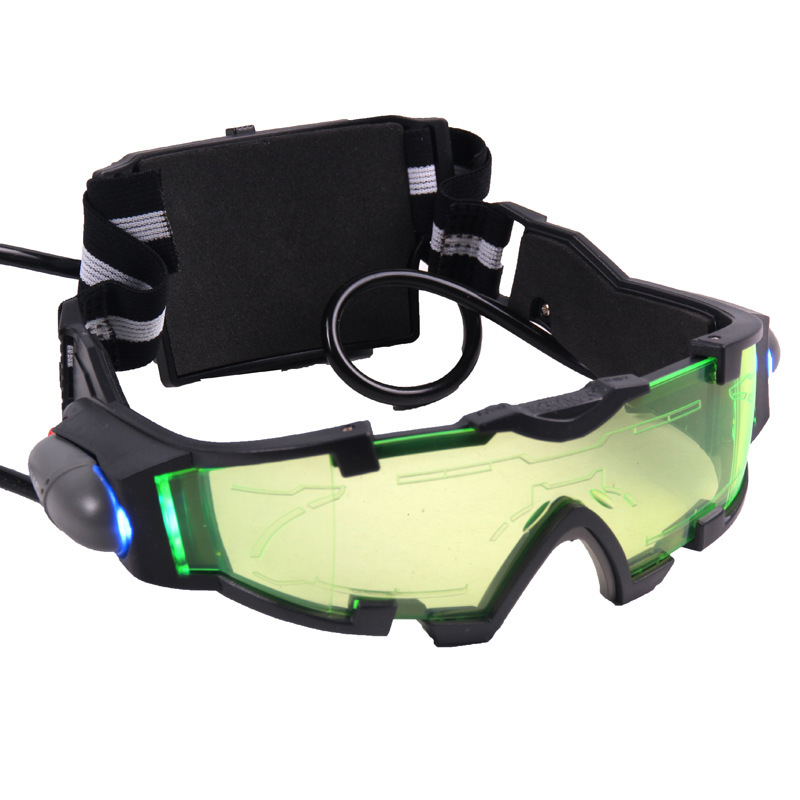 Halloween Toy 18cm Gift Children Adjustable Elastic Band Night Vision Goggles Glasses for Night Activities Water Gun Protective adjustable windproof elastic band night vision goggles glass children protection glasses green lens eye shield with led