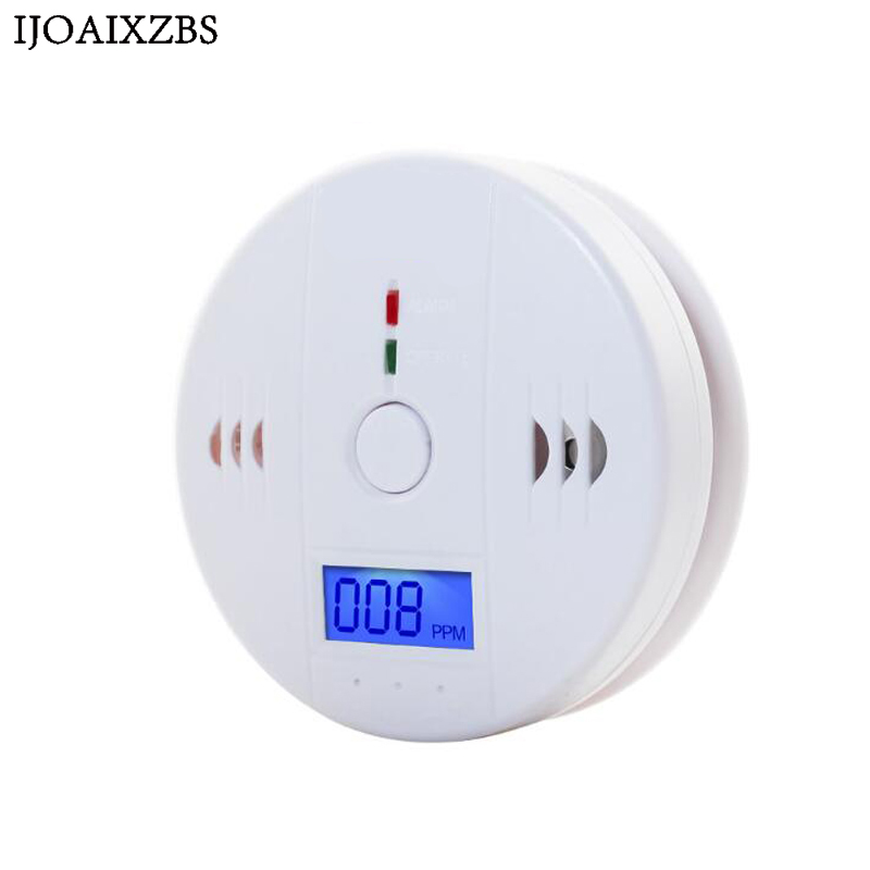 LCD CO Sensor Work alone Built-in 85dB siren sound Independent Gas Carbon Monoxide Poisoning Warning Alarm Detector