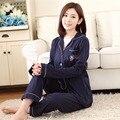 Nova Chegada do Inverno pijama pijama de Algodão mulheres sleepwear pijama Casuais Roupas Desgaste Dormir Super macio Casa Solta