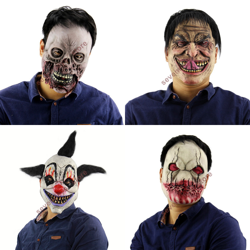 2018 New Scary Devil Zombie Mask Halloween Cosplay Party