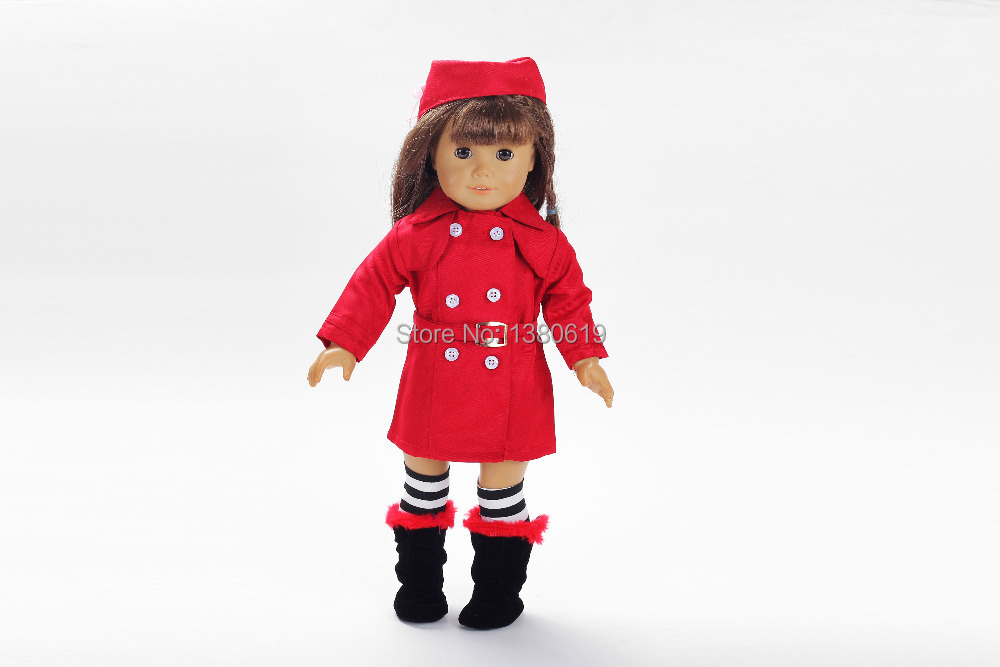 Free Shipping Hot 2014 New Style Popular 18 Inches American Girl Doll Clothes Dress W172