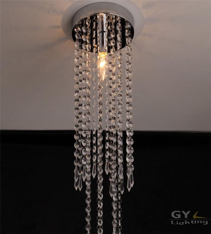 Mini Modern LED Ceiling Light lustres Fixture Long Crystal drop Lamp lustre Light  fitting LED for