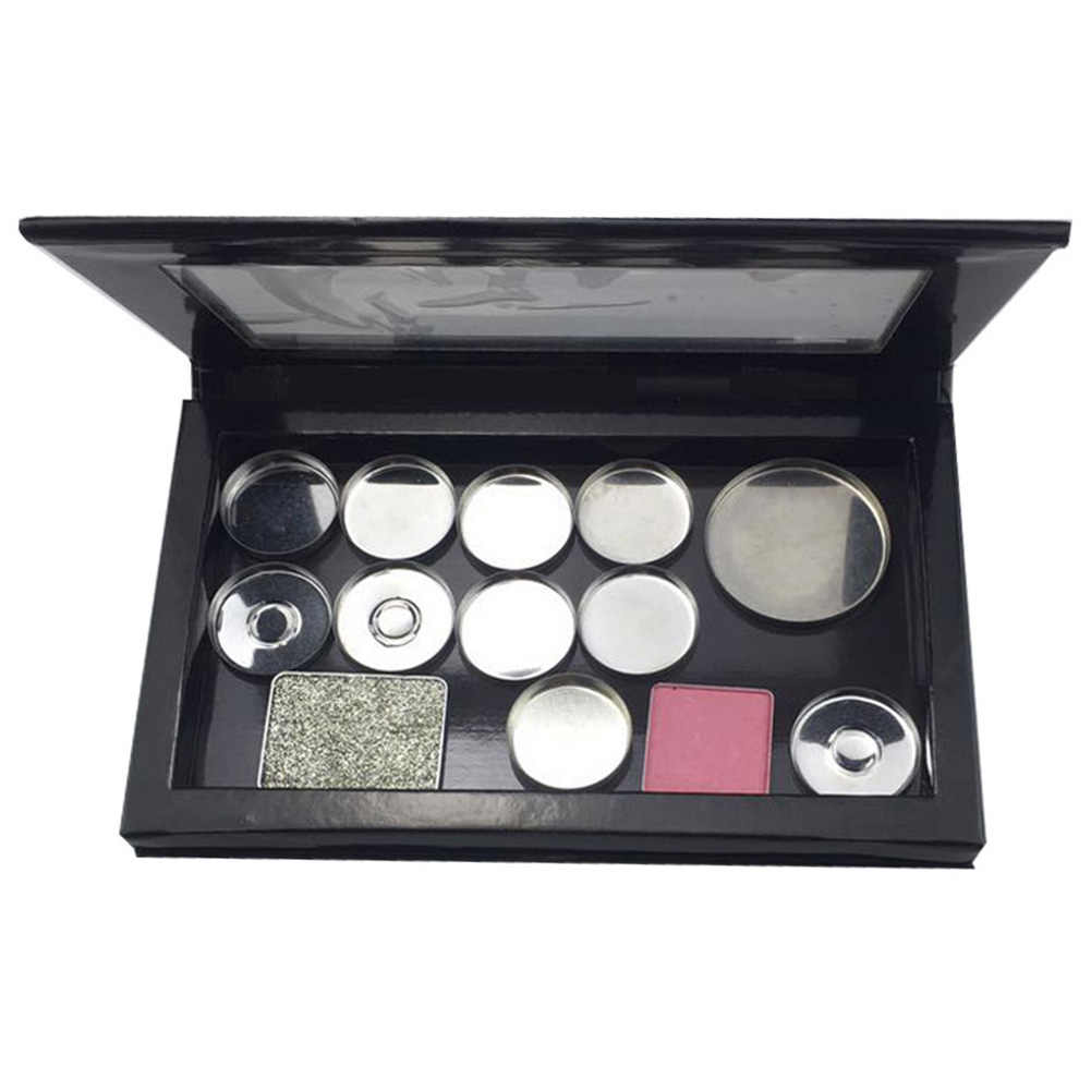 Empty Black Magnetic Eyeshadow Matte Storage Cosmetics Makeup Palette