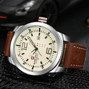 Image 3 - 2019 Luxe Merk Naviforce Datum Quartz Horloge Mannen Casual Militaire Sport Horloges Lederen Horloge Mannelijke Relogio Masculino Klok