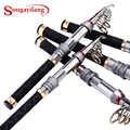 Sougayilang 1.3-2.4m Mini Fishing Rod Portable Carbon Fiber Rod Pocket Telescopic Fishing Rod Spinning Fishing Rod Vara De Pesca