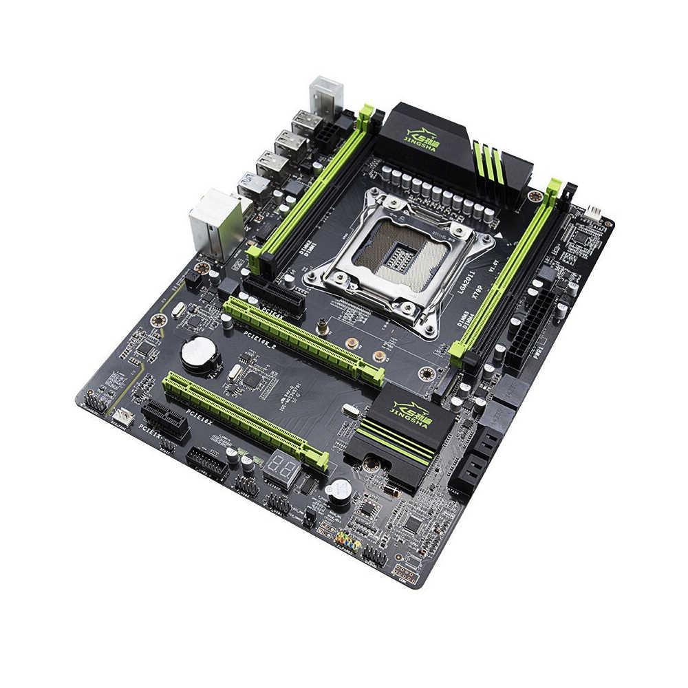Jingsha X79P LGA 2011 マザーボード M.2 高速 E5 LGA2011 インテル E5/E5V2 プロセッサ DDR3 64 ギガバイトメインボード PCI-E3.0 NVME