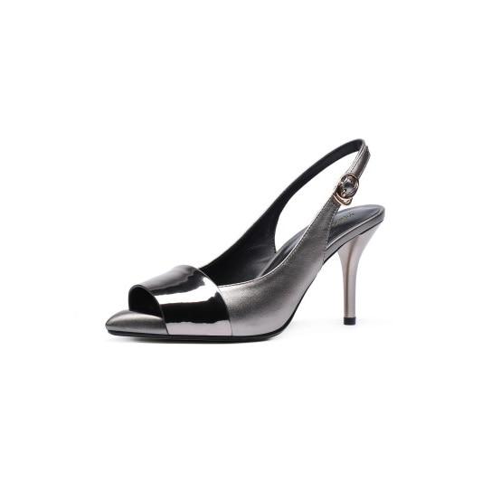 Verano Peep Negro d1006 Tamaño Nuevo Agradable 5 Llegada Tacones 4 Fiesta D1006 Silver Stiletto Black 8 Altos De Zapatos Yifsion Mujer Sandalias Toe Un Plata wqXOTPqg