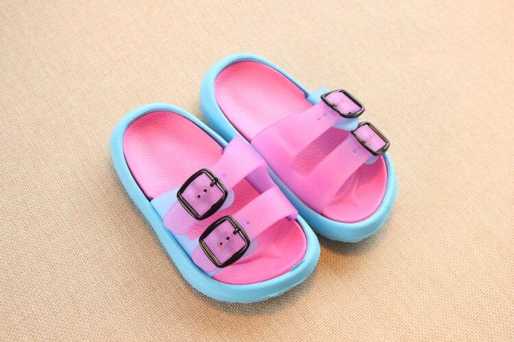 Slippers Kids for Girls Beach Sandals Summer Baby Slippers Boys Flat House Flip Flop Children Non-slip Korea Home Casual Shoes 15