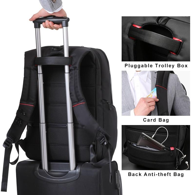 Kingsons 15 inch Laptop Backpacks USB Charging Anti Theft Backpack Men Travel Backpack Water Repellent School Bags Male Mochila